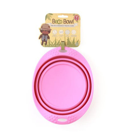 Beco Collapsible Travel Bowl - Pink