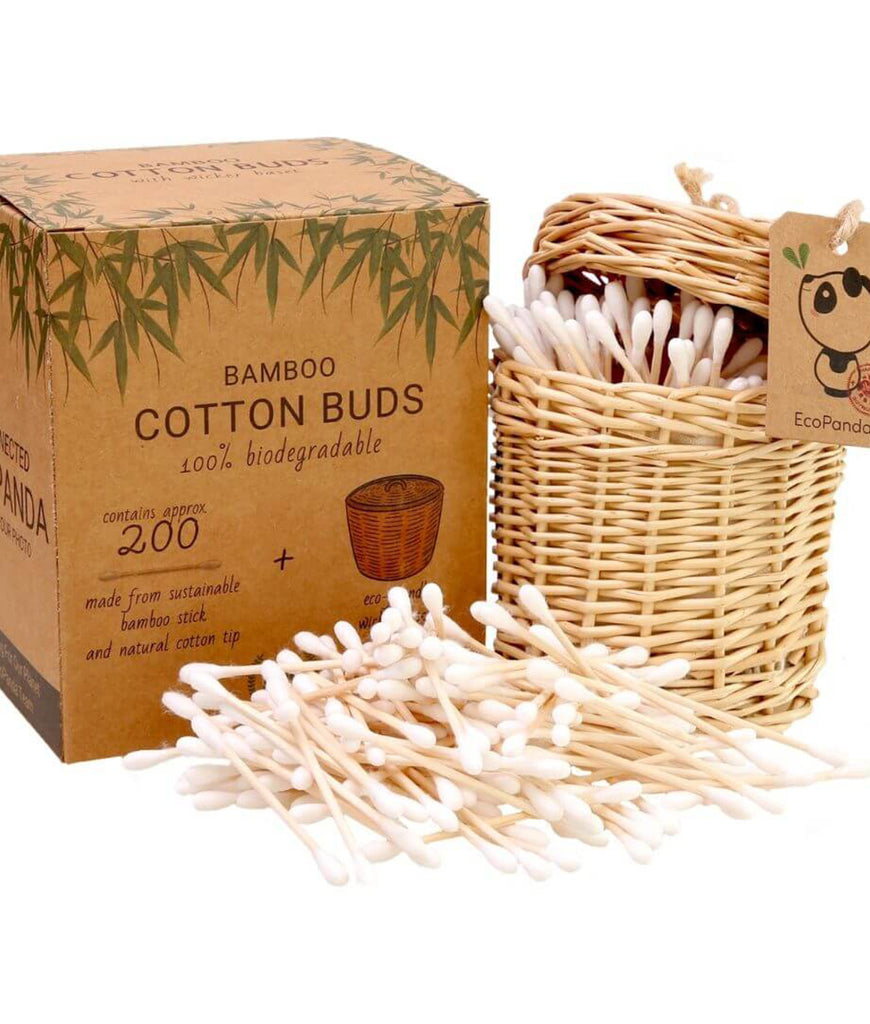 Eco Panda Bamboo Cotton Bud Gift Set