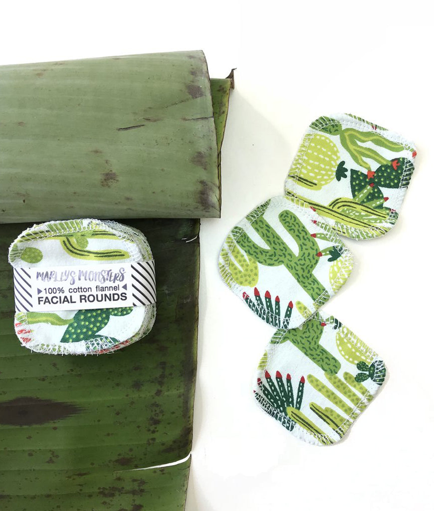 Marley's Monsters Cotton Facial Rounds Cactus - x10 Pack