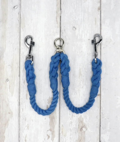 Jolly Hound Cotton Dog Lead Coupler - Seaside