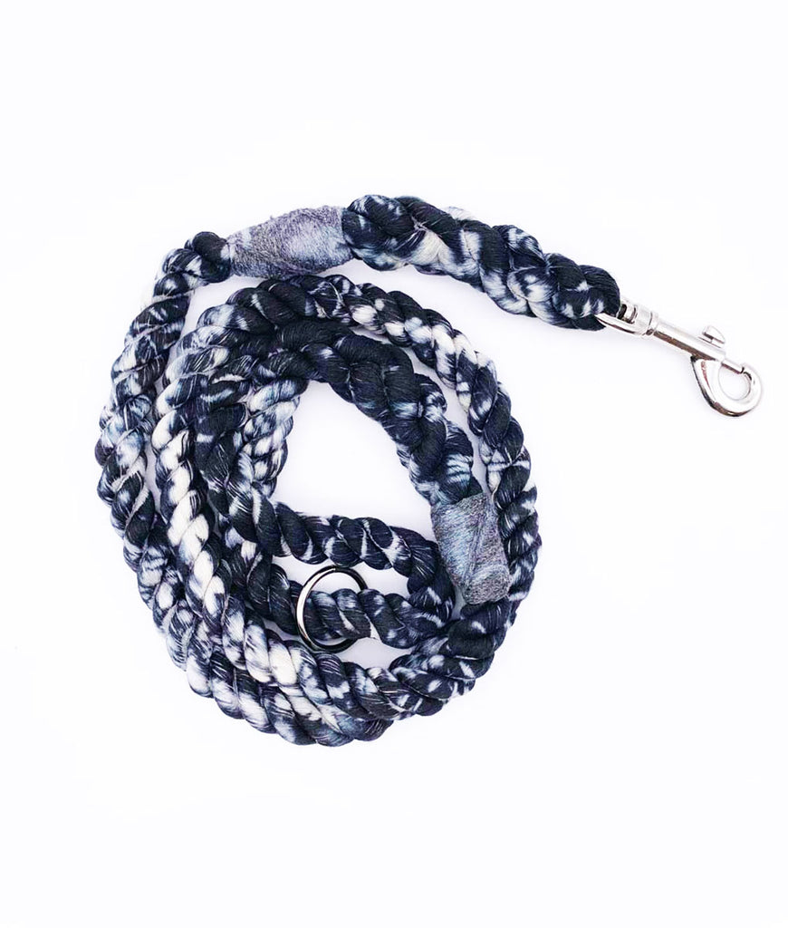 Jolly Hound Cotton Dog Lead - Black Crackle