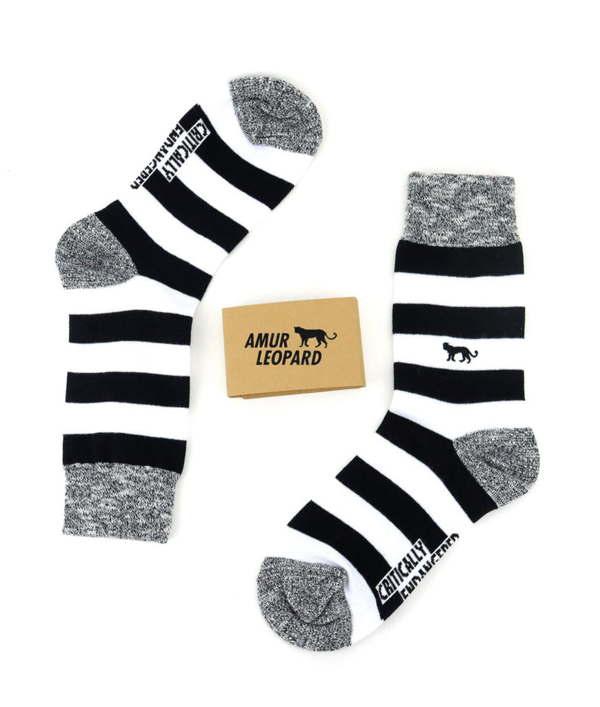 Critically Endangered Socks Amur Leopard - Striped