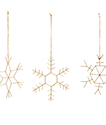 Nkuku Dagari Brass Snowflake Decoration Large x1