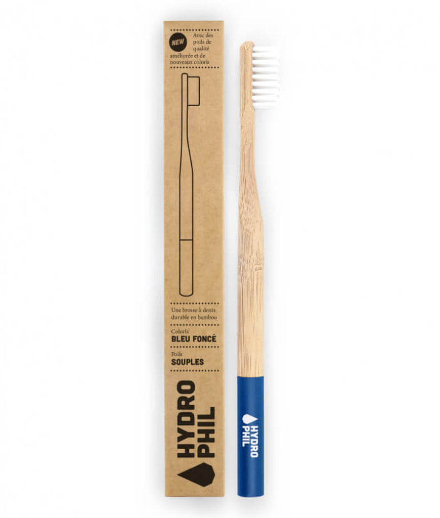 Hydrophil Bamboo Toothbrush - Dark Blue Soft