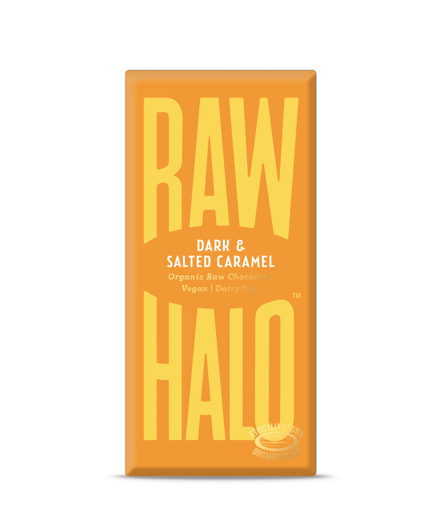 EXPIRING Raw Halo Dark & Salted Caramel Vegan Chocolate - 22g