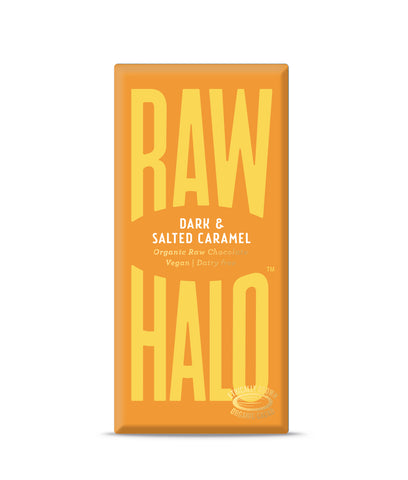 Raw Halo Dark & Salted Caramel Vegan Chocolate - 35g