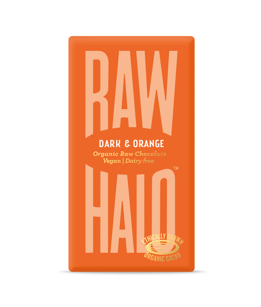 Raw Halo Dark & Orange Vegan Chocolate - 35g