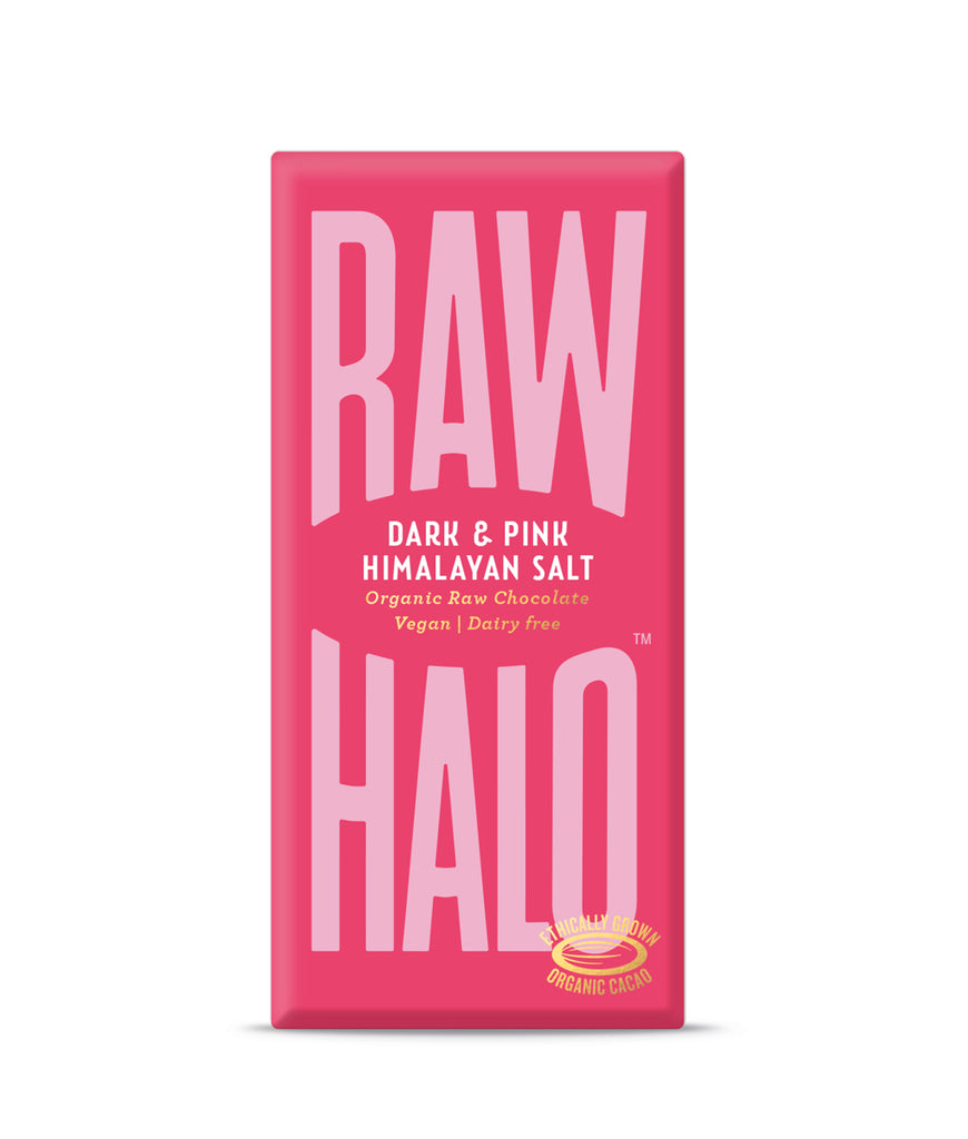EXPIRING Raw Halo Dark & Pink Salt Vegan Chocolate - 70g