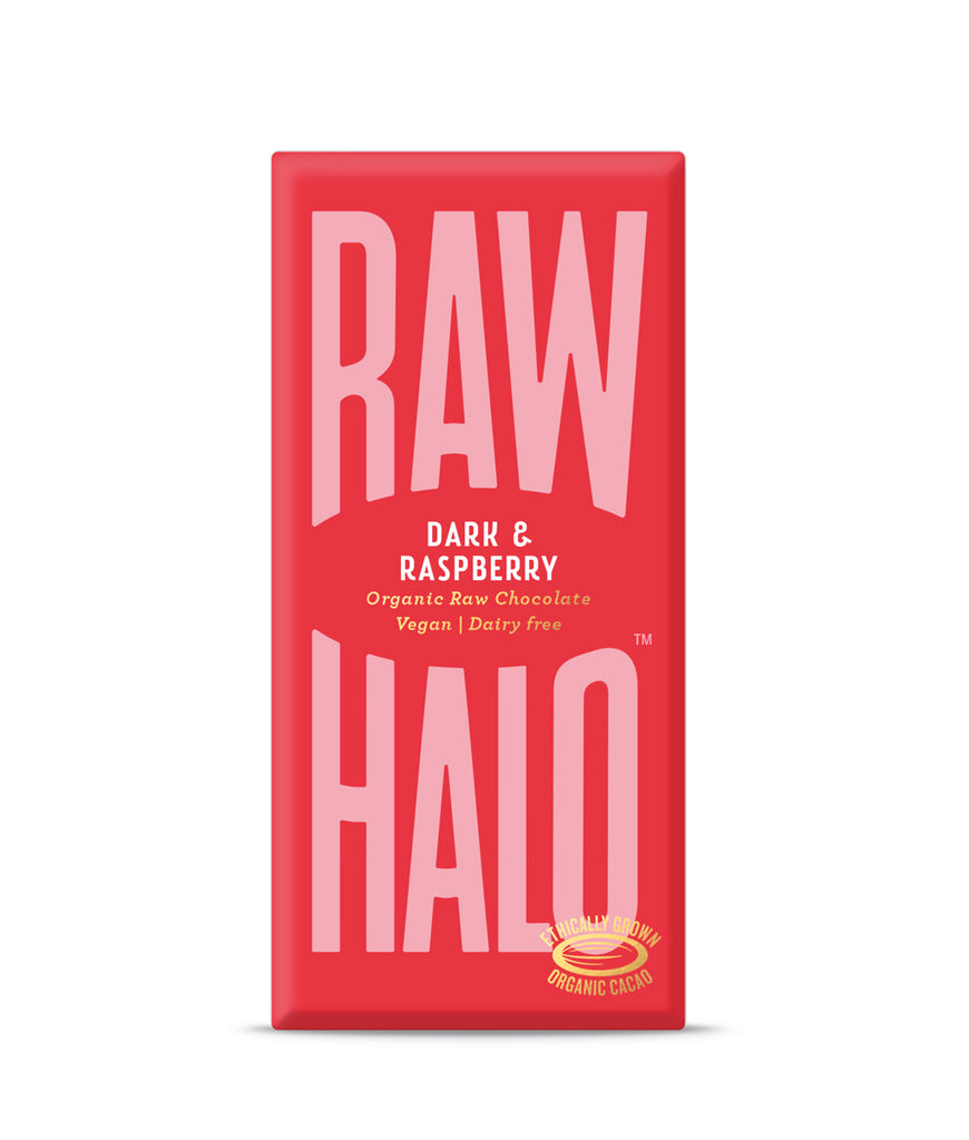 Raw Halo Dark & Raspberry Vegan Chocolate - 70g