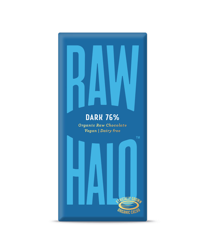 Raw Halo 76% Dark Vegan Chocolate - 22g