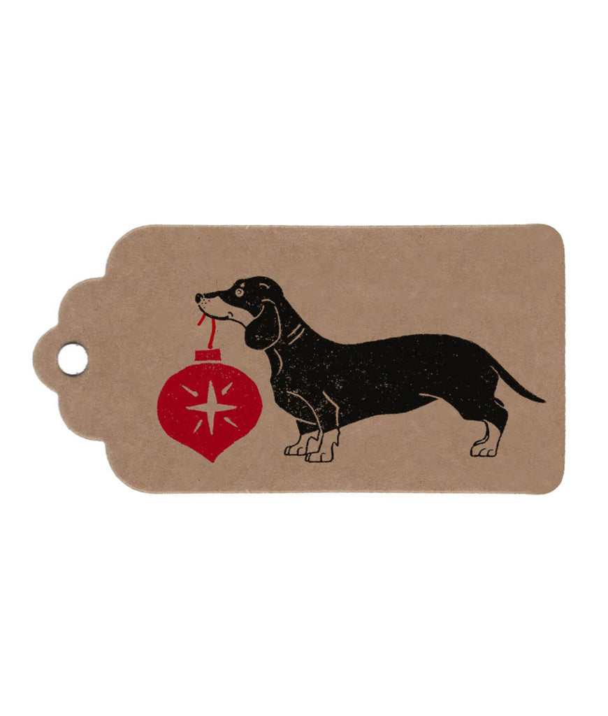 Wrapped By Alice Christmas Gift Tag - Sausage Dog
