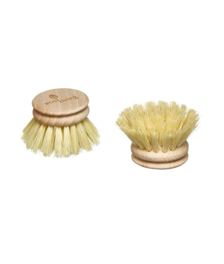 Eco Living Replacement Wooden Head for Dish Cleaning Brush - 4cm