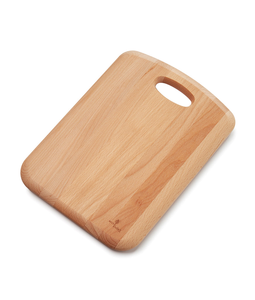 Eco Living Wooden Chopping Board with Handle - 34cm