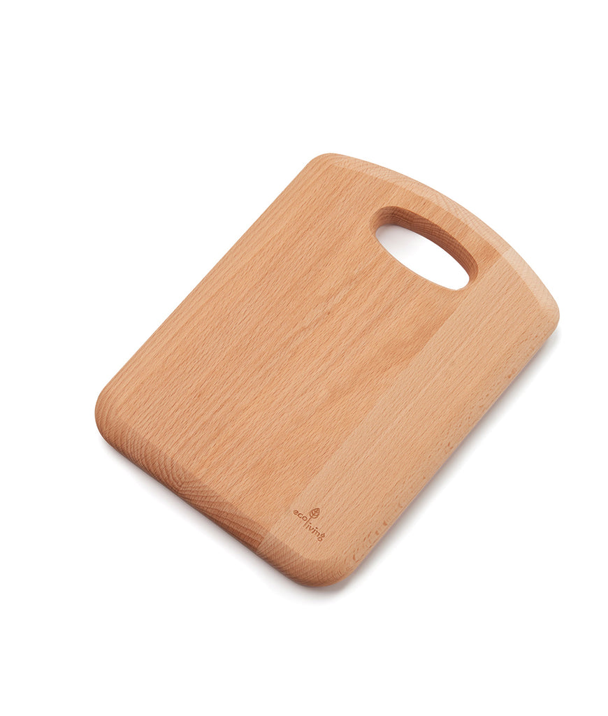 Eco Living Wooden Chopping Board with Handle - 28cm