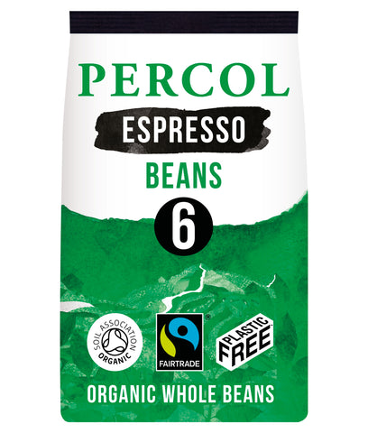 Percol Espresso Dark 6 Coffee Beans 200g