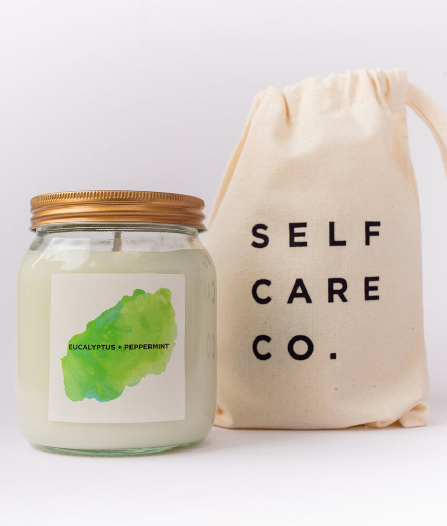 Self Care Co Aromatherapy Candle - Eucalyptus & Peppermint
