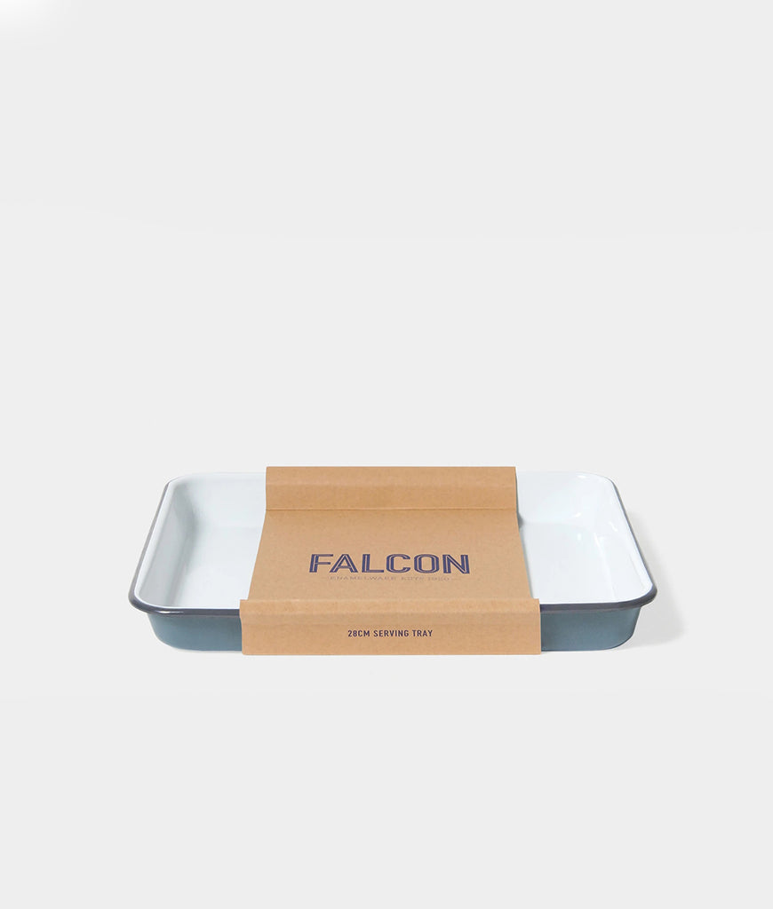 Falcon Enamelware Serving Tray - Pigeon Grey