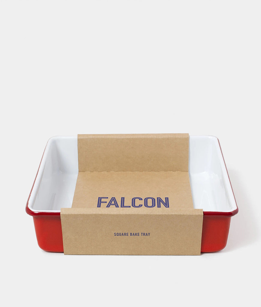 Falcon Enamelware Square Bake Tray - Pillarbox Red