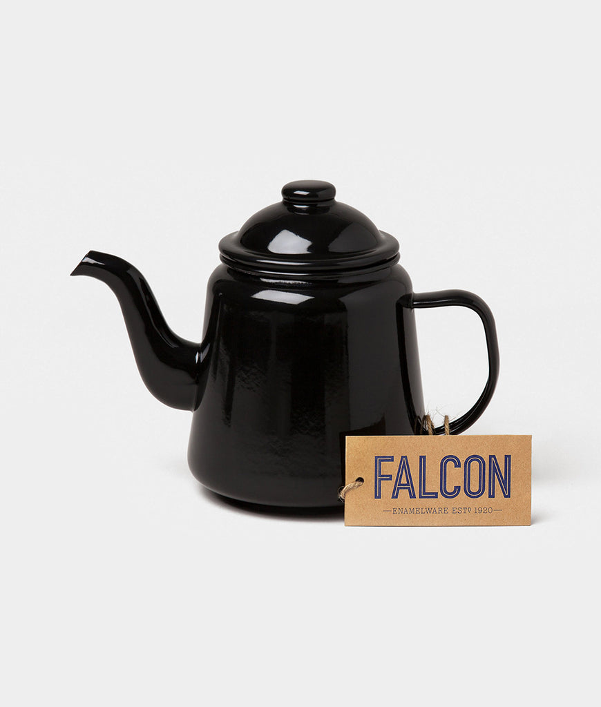 Falcon Enamelware Teapot - Coal Black