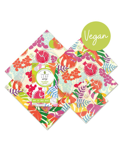 BeeBeeWraps Vegan Wax x5 Family Pack - Tropical