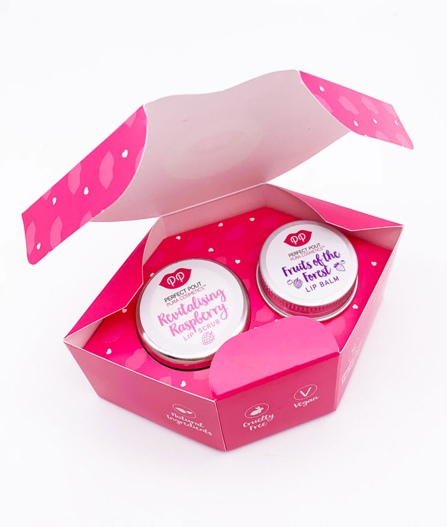 Pura Cosmetics Lip Scrub & Balm Set - Fruity