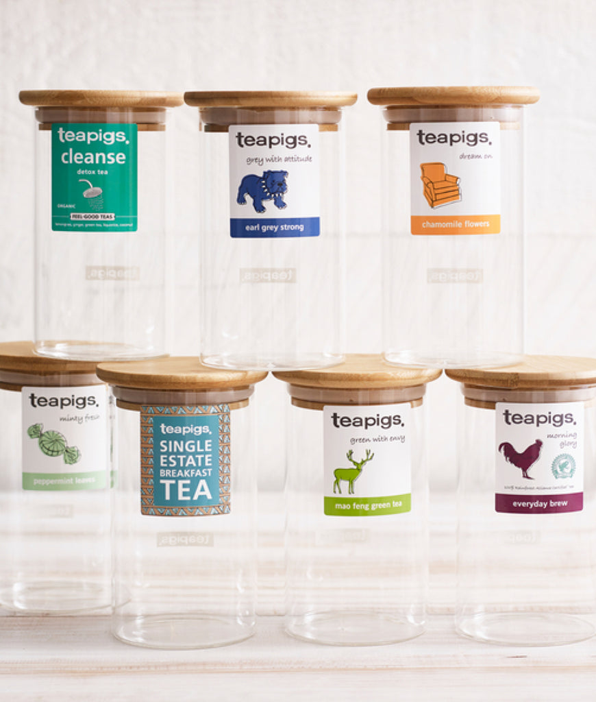 Teapigs Glass Storage Jar