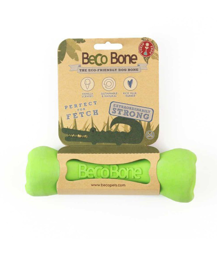 Beco Natural Rubber Chew Bone - Green