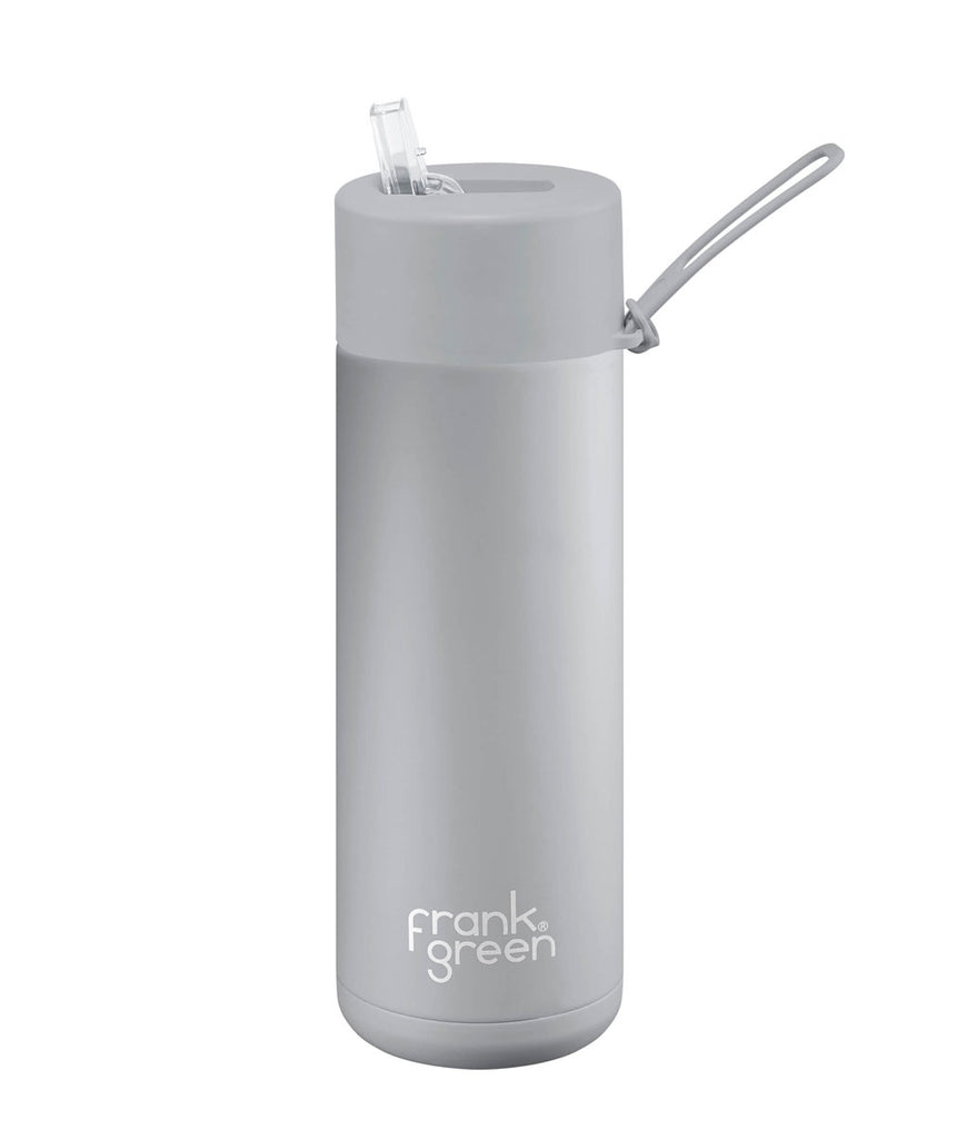Frank Green Ceramic Reusable Cup With Straw Lid 595ml - Grey