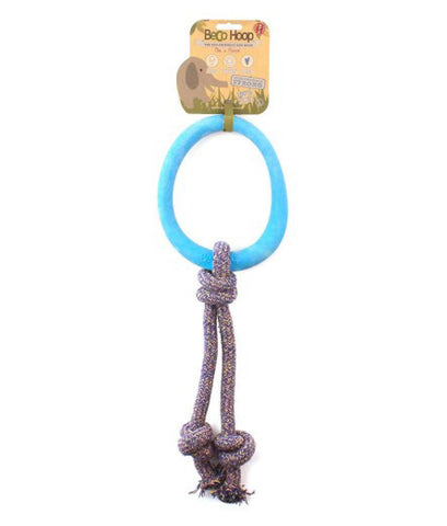 Beco Natural Rubber Hoop On Rope - Blue