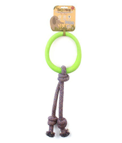 Beco Natural Rubber Hoop On Rope - Green