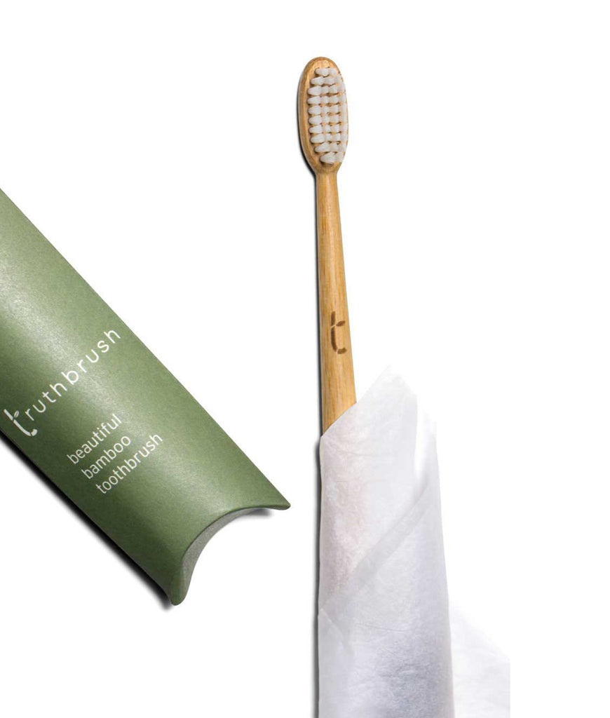 Truthbrush Bamboo Toothbrush with Plant Based Medium Bristles - Moss Green