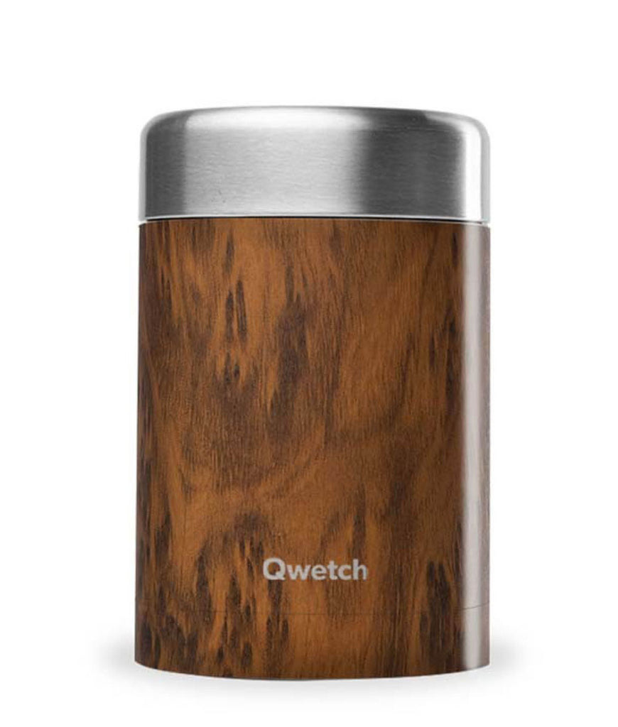 Qwetch Stainless Steel Food Jar Wood - 650ml