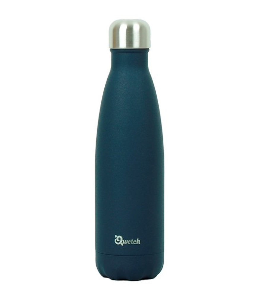 Qwetch Stainless Steel Water Bottle Granite Midnight Blue - 500ml
