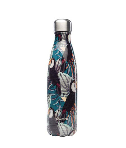Qwetch Stainless Steel Water Bottle Tropical Toucan - 500ml