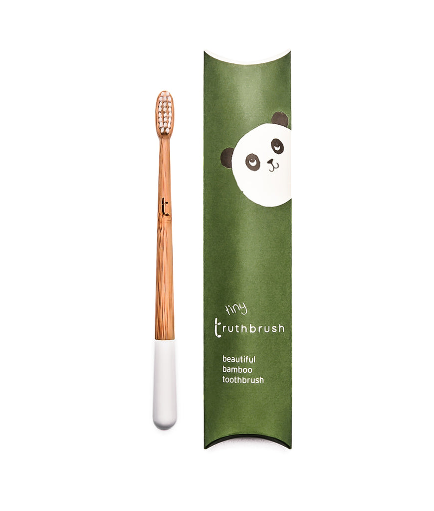 Truthbrush Kids Bamboo Toothbrush with Plant Based Bristles - White