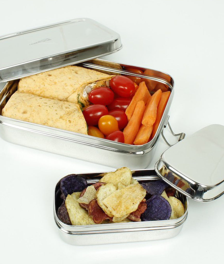 A Slice Of Green Rampur Single Tier Lunchbox with Snack Pot