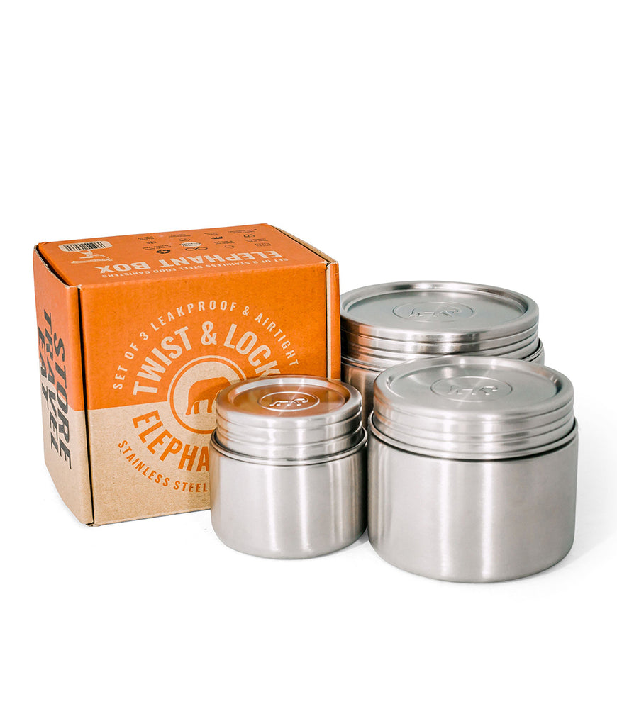 Elephant Box Leakproof Canister Trio