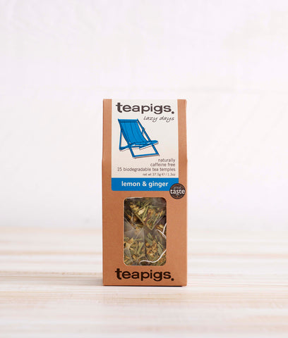 Teapigs Lemon + Ginger Tea - x15 Tea Temples