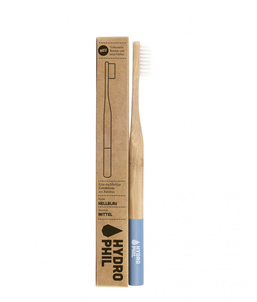 Hydrophil Bamboo Toothbrush - Light Blue Medium
