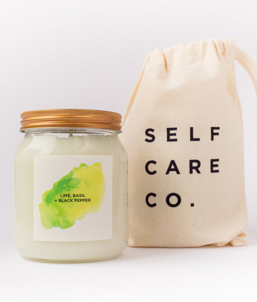 Self Care Co Aromatherapy Candle - Lime, Basil & Black Pepper