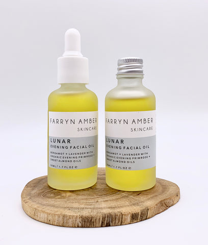 Farryn Amber Lunar Facial Oil 50ml - Pipette Lid