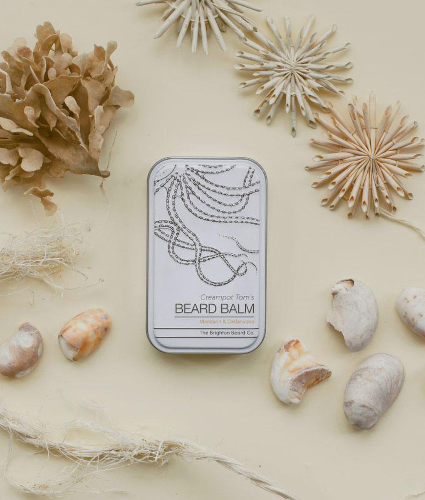 Brighton Beard Co Creampot Tom's Beard Balm 80ml - Mandarin & Cedarwood
