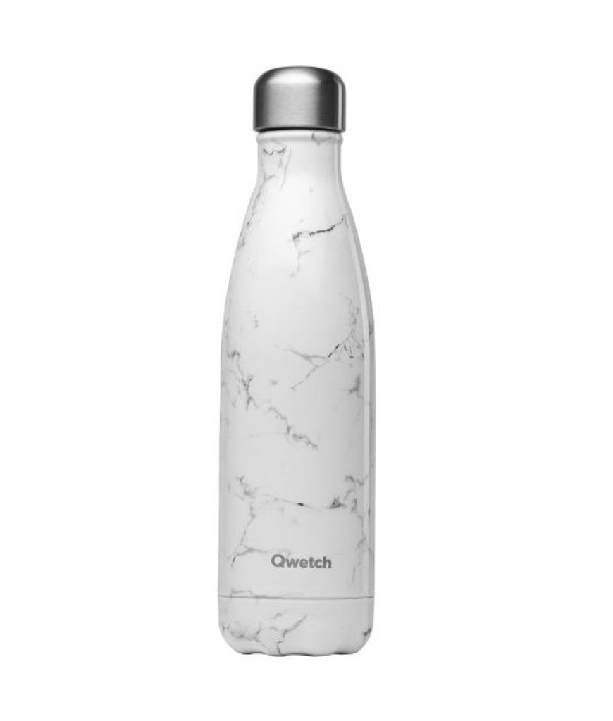 Qwetch Stainless Steel Water Bottle Marble - 500ml