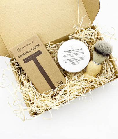 Plastic Freedom Gift Set - Metal Grey Shaving Essentials