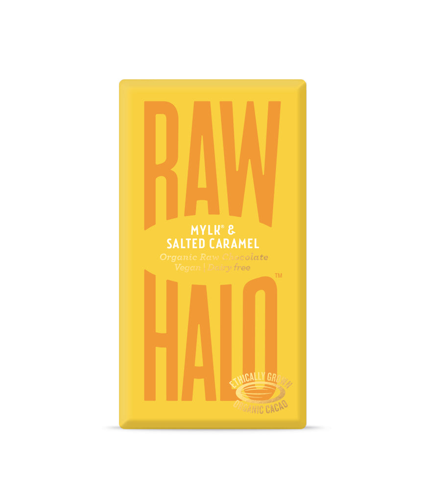 Raw Halo Mylk & Salted Caramel Vegan Chocolate - 35g