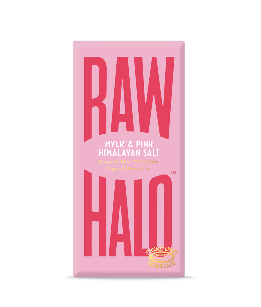 Raw Halo Mylk & Pink Salt Vegan Chocolate - 70g