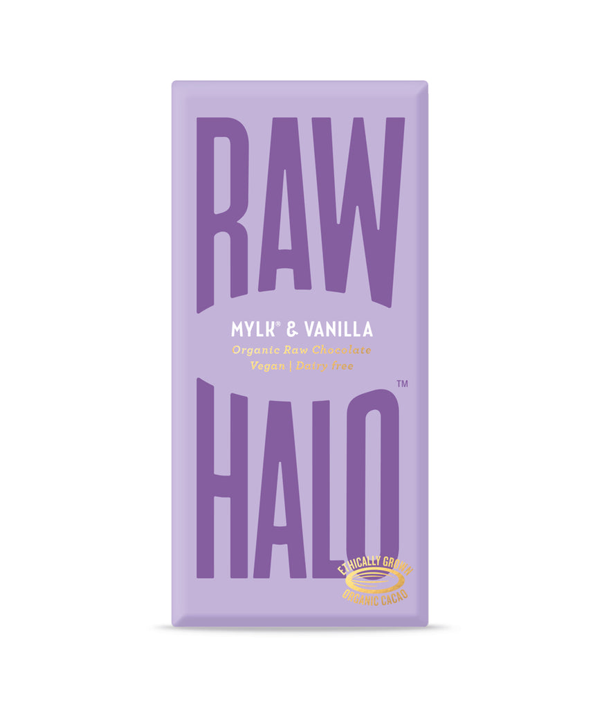 Raw Halo Mylk & Vanilla Vegan Chocolate - 70g