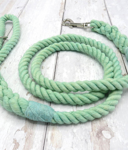Jolly Hound Cotton Dog Lead - Mint