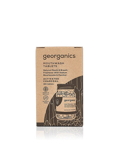 Georganics Mouthwash Tablets Activated Charcoal - x180