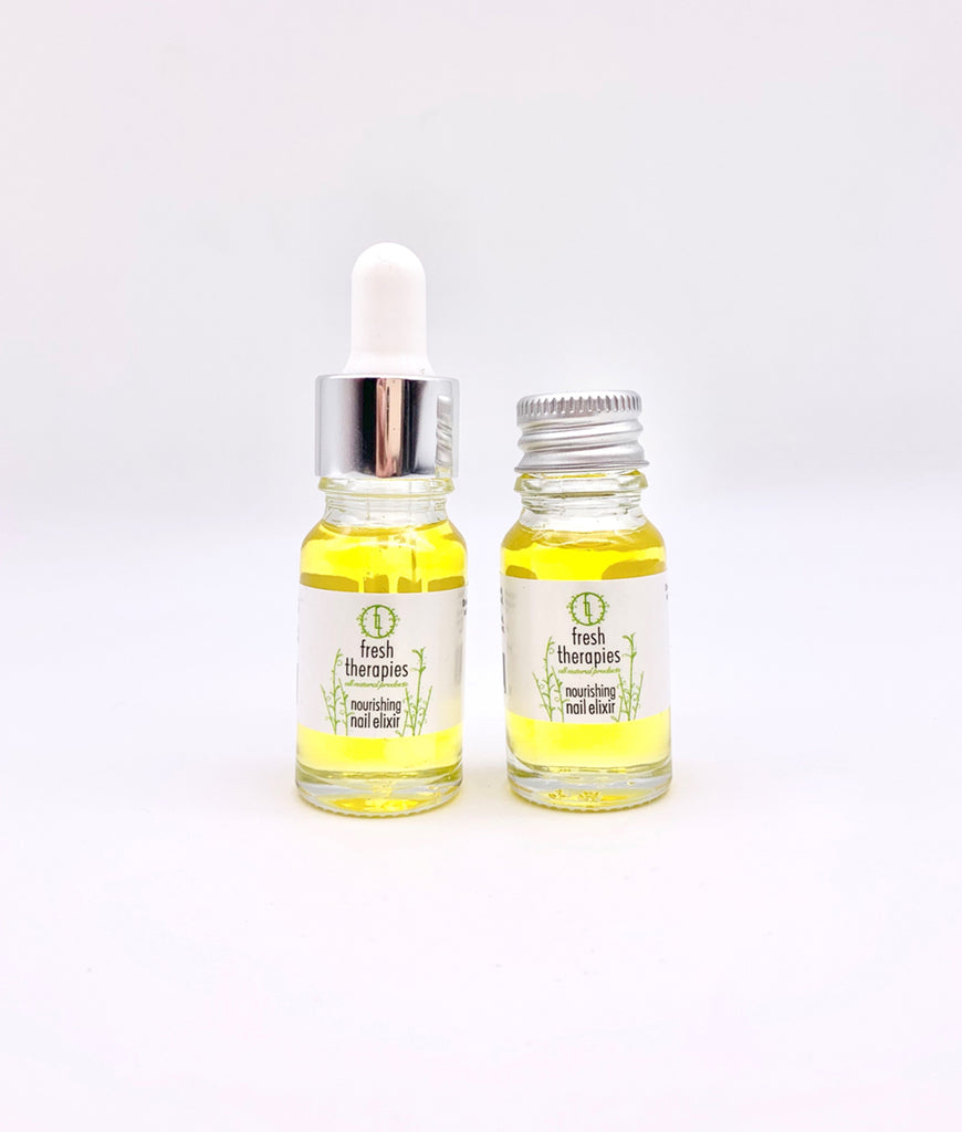 Fresh Therapies Nourishing Nail Elixir 10ml - Pipette Lid